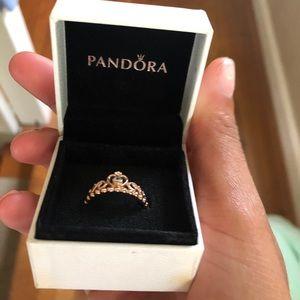 Pandora Princess Ring Size 8